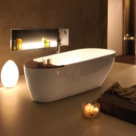 WS Bath Collections Aquatech 3750+3751 Bathtub in Pietraluce