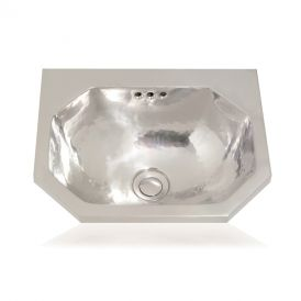 "WS Bath Collections Mini Seychelles 3125 Metal Bathroom Sink 14.2"" x 12.2"""