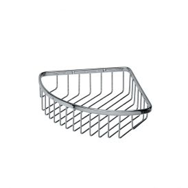 WS Bath Collections Filo 50002 Wall-Mounted Corner Shower Caddy in Polished Basket
