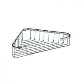 WS Bath Collections Filo 50011 Wall-Mounted Corner Shower Caddy in Polished Chrome