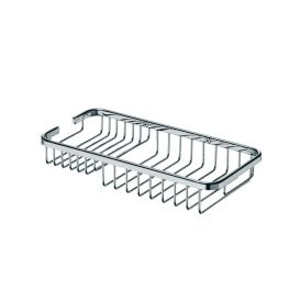 """WS Bath Collections Filo 50021 Wall-Mounted 11.4"""" Rectangular Shower Caddy in Polished Chrome"""