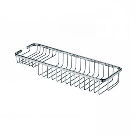 """WS Bath Collections Filo 50022 Wall-Mounted 15.7"""" Rectangular Shower Basket in Polished Chrome"""