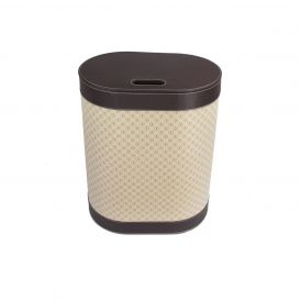 WS Bath Collections Icon 2465 Leather Laundry Basket