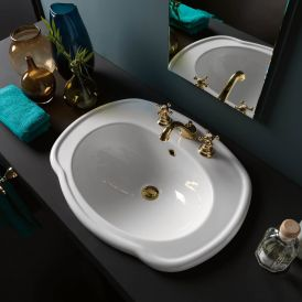 "WS Bath Collections Contea 67 Drop-In Bathroom Sink 26.4"" x 20.7"""