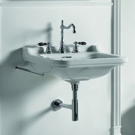WS Bath Collections Waldorf 4140K1 Wall Mounted Ceramic Sink 23.6""