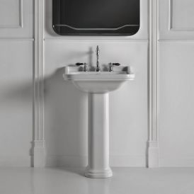 WS Bath Collections Waldorf 4140K1+417001 Pedestal Ceramic Sink 23.6""
