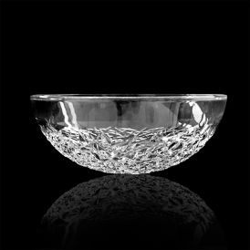 WS Bath Collections Ice Round Vessel Bathroom Sink in Crystal 17.1""