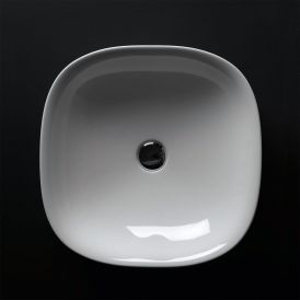 WS Bath Collections Wild 45C Vessel Sink in Ceramic White 17.7""