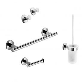 WS Bath Collections Napie 53092 Accessory Set in Polished Chrome