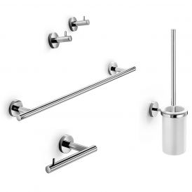 WS Bath Collections Spritz 52437 Accessory Set in Polished Chrome