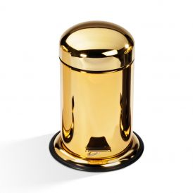 DW TE 30 Waste Basket with Gold Lid