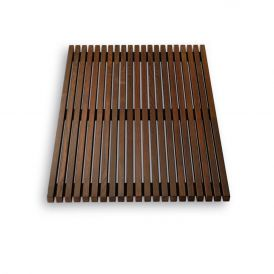 DW WO BME 4060 Shower Mat in Thermo-Ash Wood