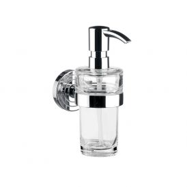 Polo 0721.001.01 Wall Mounted Soap Dispenser in Clear Crystal Glass