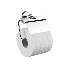 Polo 0700.001.00 Toilet Paper Holder with Lid in Polished Chrome