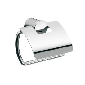Rondo2 4500.001.00 Toilet Paper Holder in Polished Chrome With Lid