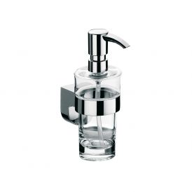 Mundo 3321.001.01 Wall Mounted Soap Dispenser in Clear Crystal Glass
