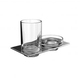 Art 1633.001.00 Wall Mounted Tumbler and Soap Dish in Crystal Clear Glass