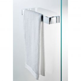 DW BK DTG Glass Mounted Towel Bar in Polished Chrome