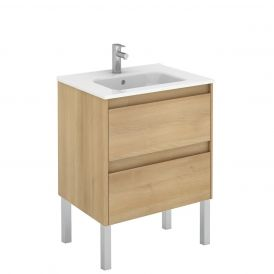 WS Bath Collections Ambra 60F Free Standing Bathroom Vanity in Nordic Oak