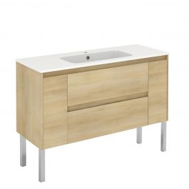 WS Bath Collections Ambra 120F Free Standing Bathroom Vanity in Nordic Oak
