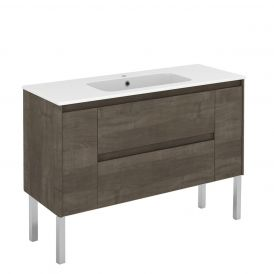 WS Bath Collections Ambra 120F Free Standing Bathroom Vanity in Samara Ash
