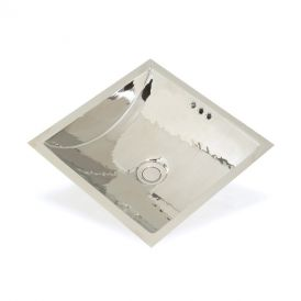 "WS Bath Collections WSBC 0550 Metal Bathroom Sink 12.6"" x 12.6"""