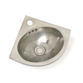 "WS Bath Collections Junior d' Angle 0280 Metal Bathroom Sink 15.8"" x 11.0"""