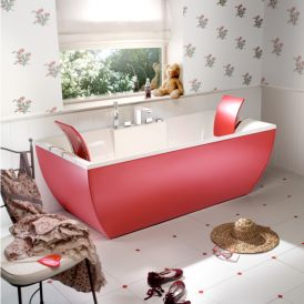 Kali Color Free Standing Bathtub in Red