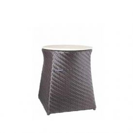 WS Bath Collections Loft 2362 Rattan Hamper-Stool