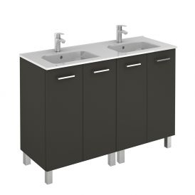 WS Bath Collections Logic 120 Free Standing Bathroom Vanity in Anthracite