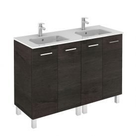 WS Bath Collections Logic 120 Free Standing Bathroom Vanity in Wenge