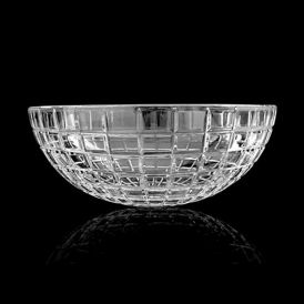 WS Bath Collections Luxor Round Vessel Bathroom Sink in Clear Crystal 17.1""