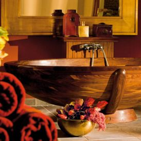 WS Bath Collections Madera M5 Free Standing Wood Bathtub