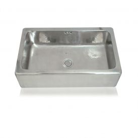 WS Bath Collections Marius 1800 Metal Farmhouse Kitchen Sink