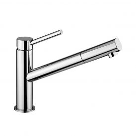 WS Bath Collections Micro MI 081 Tall Single Lever Bathroom Faucet in Polished Chrome