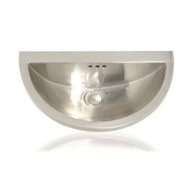 "WS Bath Collections Mini Seychelles 1020 Metal Bathroom Sink 18.1"" x 10.2"""