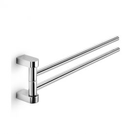 WS Bath Collections Muci 5539.29 Chrome Swivel Double Towel Bar 15.0""