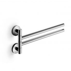 WS Bath Collections Napie 53132 Chrome Swivel Double Towel Bar 15.4""