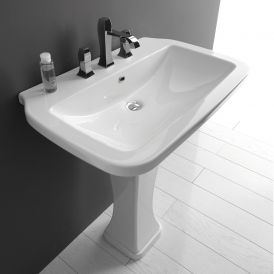 WS Bath Collections Nova 75C Pedestal Bathroom Sink 29.5""