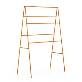 WS Bath Collections Ranpin 5110.15 Free Standing Towel Rack in Orange Painted Metal
