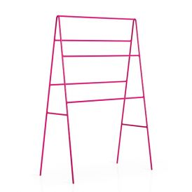 WS Bath Collections Ranpin 5110.16 Free Standing Towel Rack in Pink Painted Metal