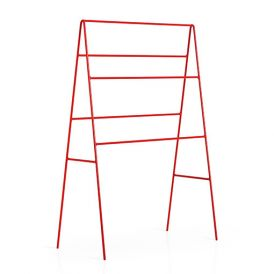 WS Bath Collections Ranpin 5110.11 Free Standing Towel Rack in Red Painted Metal