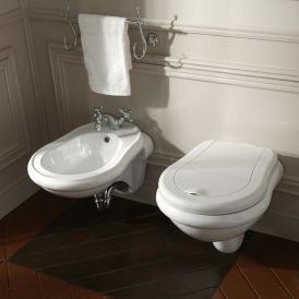 WS Bath Collections Retro 1025 Wall Mounted Ceramic Bidet