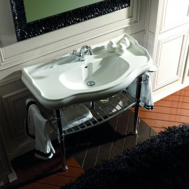 "WS Bath Collections Retro 1050+7300 Bathroom Vanity 39.4"" x 21.5"""