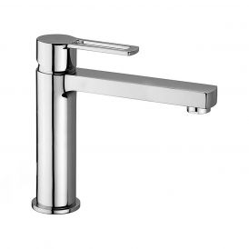 WS Bath Collections Ringo 074 Single Lever Bathroom Faucet in Polished Chrome