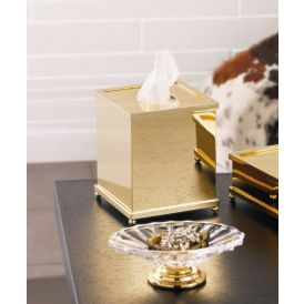 WS Bath Collections Salomonic 14.94.47.001 Tissue Box in Polished Gold
