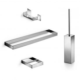WS Bath Collections Skuara 52891 Accessory Set in Polished Chrome