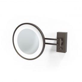 Smile 360 Hard Wired LED Lighted 5x Magnifying Mirror in Dark Bronze