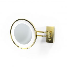 Smile 360 Hard Wired LED Lighted 5x Magnifying Mirror in Gold