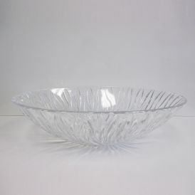 "WS Bath Collections Sole Oval Vessel Bathroom Sink in Clear 20.1"" x 13.6"""